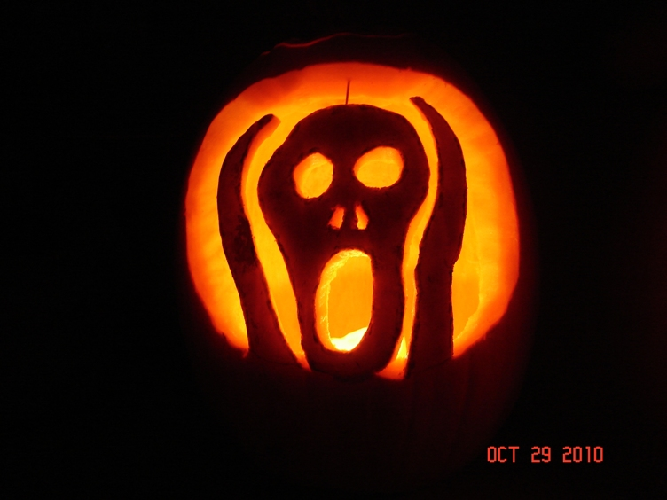 Hamilton 39 s halloween for Scream pumpkin template